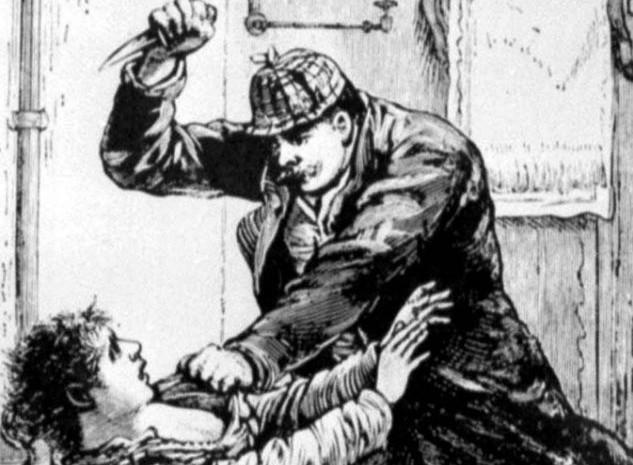 Afbeelding van Jack the Ripper in een krant uit 1888 (Polize Gazette)