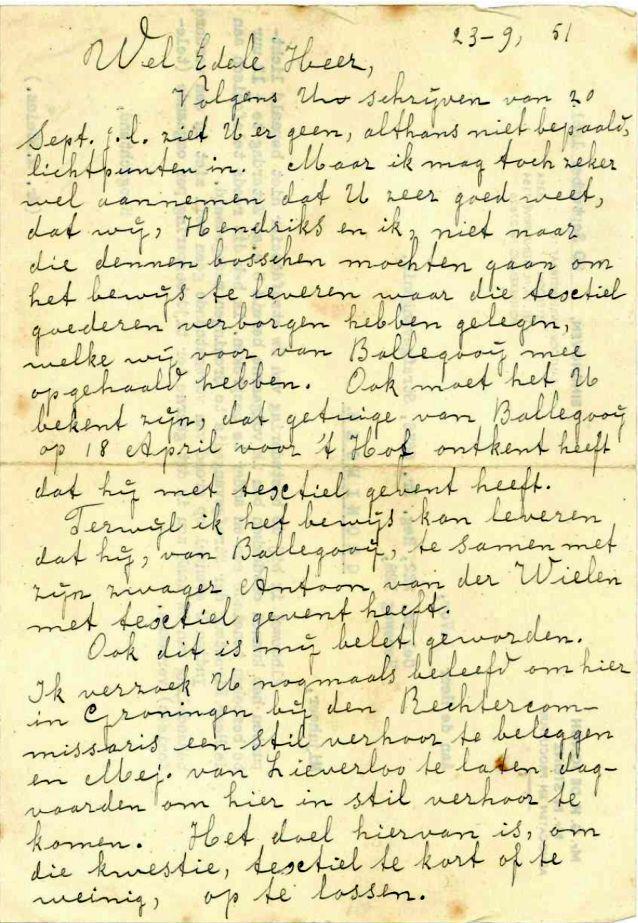 De brief van buurman Bijs