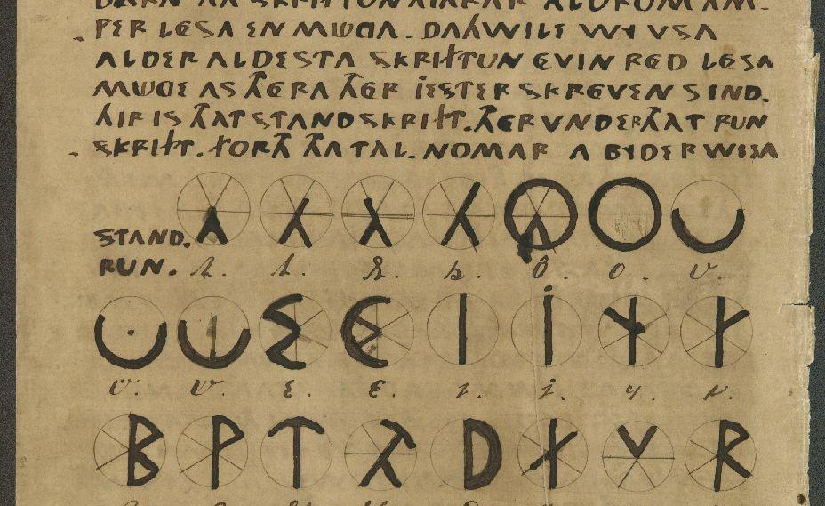 Detail uit het beruchte Oera Linda-boek (Publiek Domein - wiki)