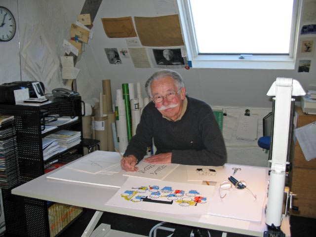Dick Bruna in zijn atelier (Dolph Kohnstamm - cc)