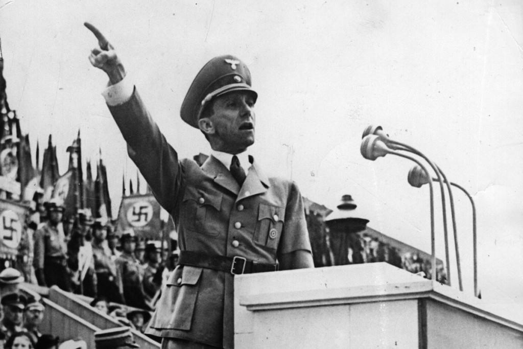 Joseph Goebbels, propagandaminister in nazi-Diutsland