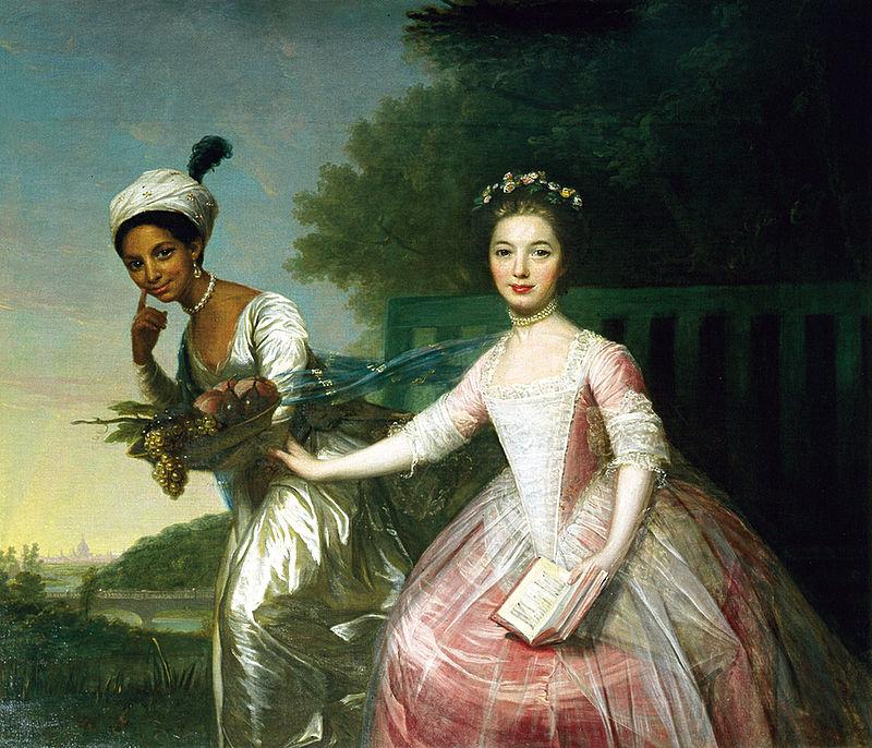 Schilderij van Dido Elizabeth Belle met nichtje