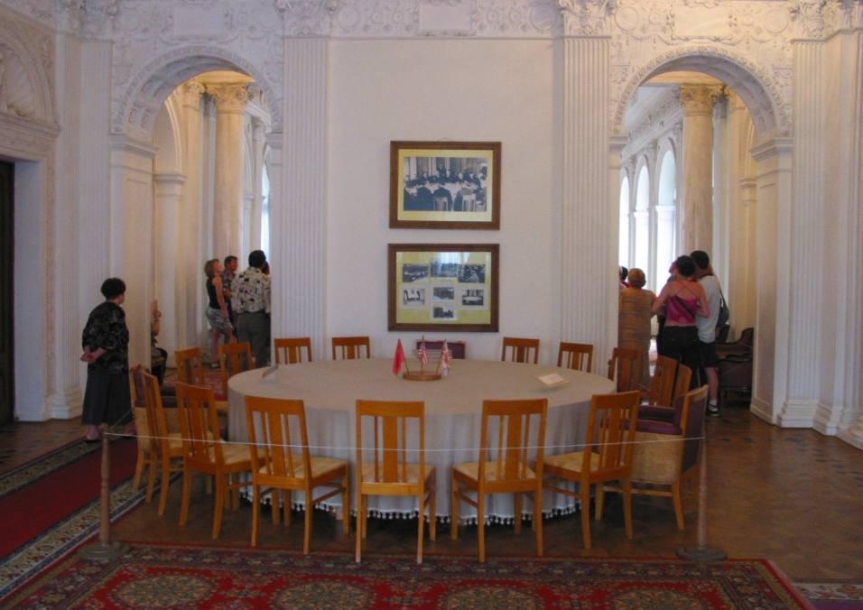 Ruimte in Jalta waar in 1945 onderhandeld werd