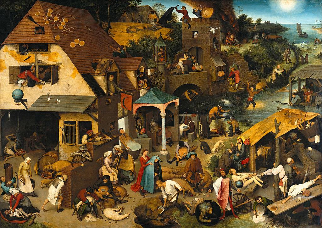 Nederlandse en Vlaamse zegswijzen volgens Bruegel (Google Art project)