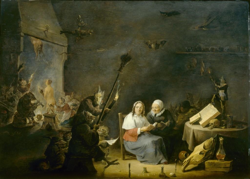 Inwijding van de heksen, David Teniers II, ca. 1650, Akademie der bildenden Künste, Wenen