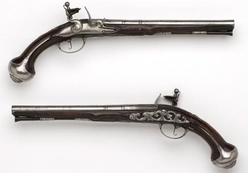 Pistolen uit de collectie van Jacobus van Solingen. Bron: Legermuseum, Collectie Informatie Centrum (CIC)
