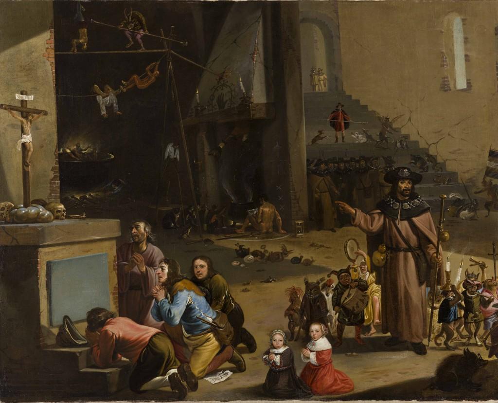 Jacobus en Hermogenes, Cornelis Saftleven, ca. 1607, Kunsthandel P. de Boer, Amsterdam