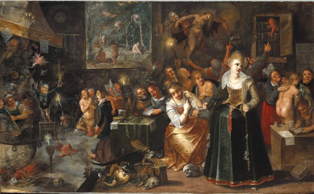 Heksenkeuken, Frans Francken II, 1610, Bayerische Staatsgemäldesammlungen, München, Staatsgalerie Neuburg, Dona