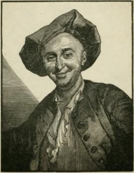 Julien Offray de La Mettrie. Gravure door Achille Ouvré, naar origineel van G.-F. Schmidt. Bron: Wikipedia.
