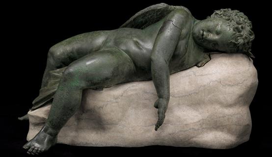 """Het originele beeld """"Slapende Cupido"""""""