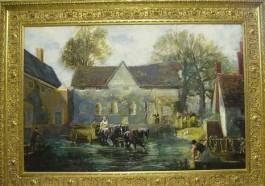 """Keatings interpretatie van Constable's schilderij """"The Hay Wain"""""""