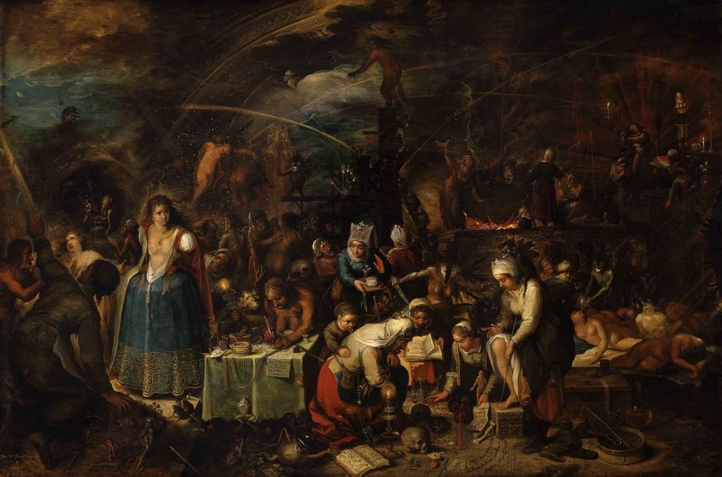 Heksenbijeenkomst, Frans Francken II, 1607, Kunsthistorisches Museum, Wenen