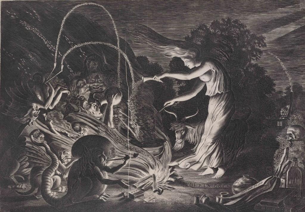Afbeelding van de complete prent De tovenares.