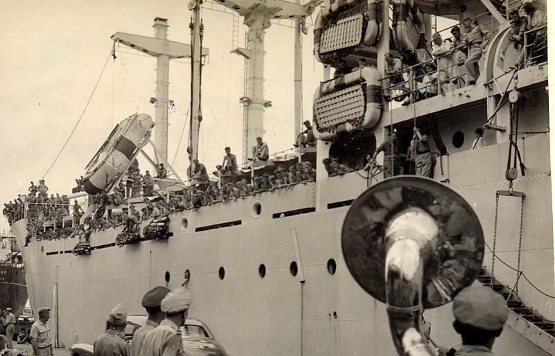 Aankomst lichting militairen in 1949 - cc