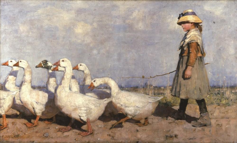 James Guthrie, Naar een nieuwe weide, olieverf op doek, 1883, Aberdeen Art Gallery & Museums Collections