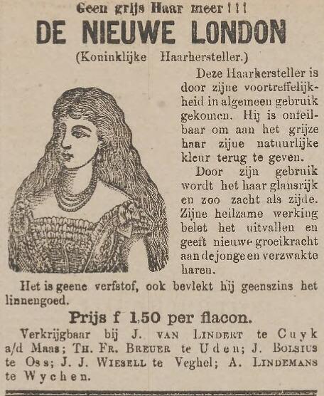 Koninklijk wondermiddel tegen grijs haar uit 1883
