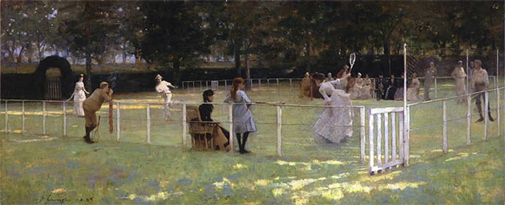 John Lavery, The tennis party, olieverf op doek, 1885. Aberdeen Art Gallery & Museums Collections, Aberdeen
