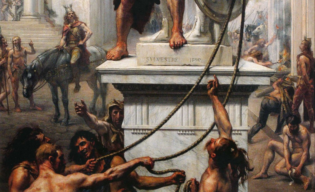 Joseph-Noel Sylvestre, The Sack of Rome by the Barbarians in 410. 1890