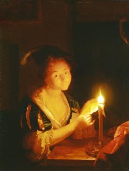 Meisje met een kaars - Godefridus Schalcken