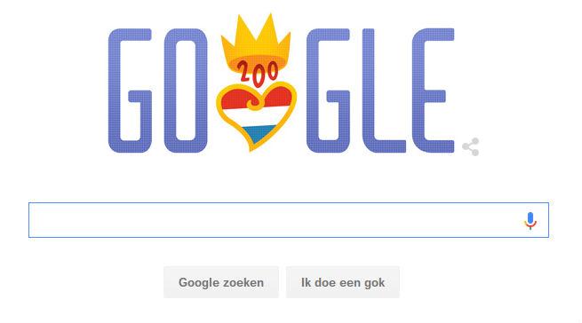 Ook Google viert '200 jaar koninkrijk'