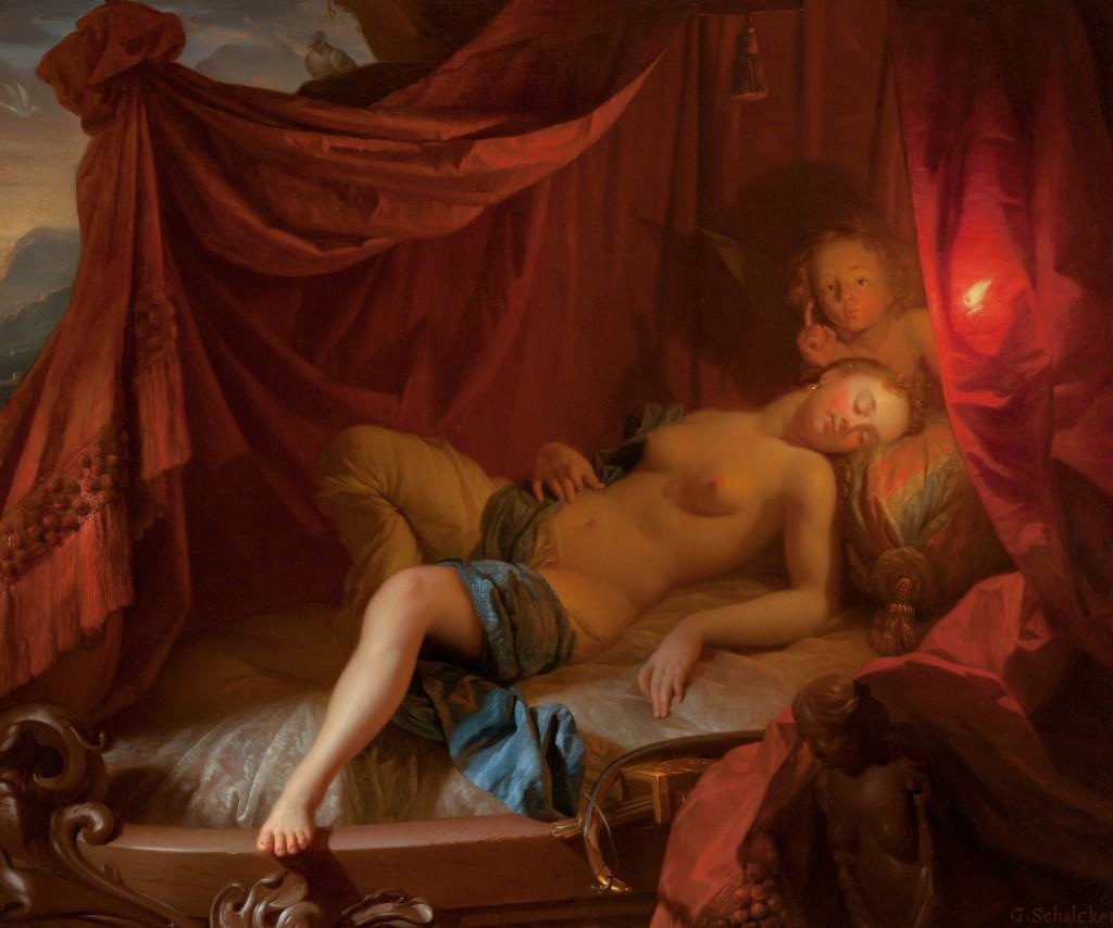 Slapende Venus met Cupido - Godefridus Schalcken