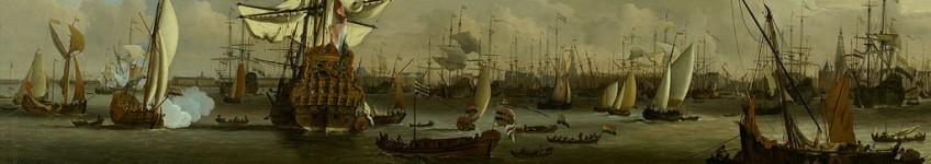 Willem-van-de-Velde-II-De-Gouden-Leeuw-op-het-IJ-voor-Amsterdam-1686