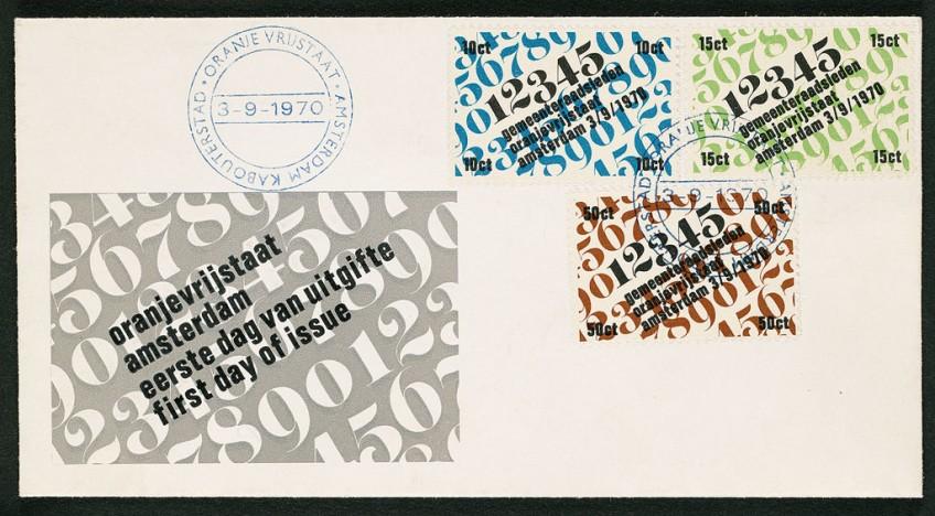Envelop Oranje vrijstaat (Amsterdam kabouterstad), 1970