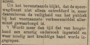De spoorwegdienst in 1921: totaal ontredderd!