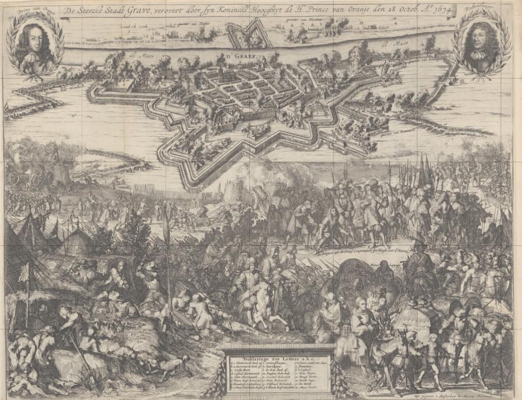 De Stercke Stadt Grave' met vooraan de uittocht van Chamilly