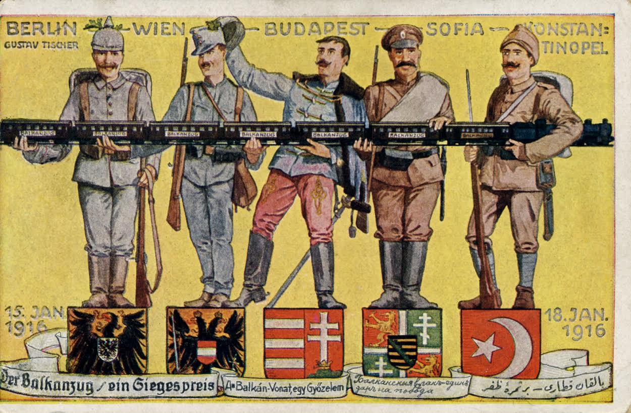 Ansichtkaart Balkanzug - een overwinnaarsprijs, ca. 1916 (collectie Arjan den Boer)