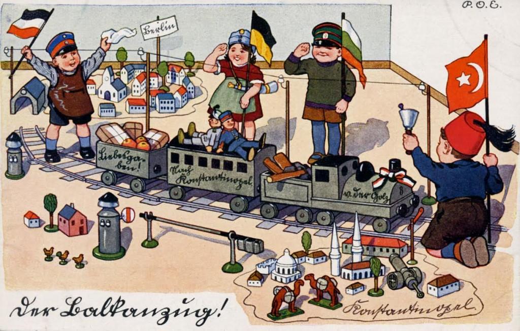 Ansichtkaart Balkanzug, ca. 1916 (collectie Arjan den Boer)