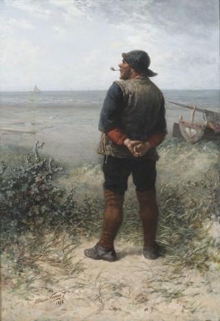 Elchanon Verveer, Verwachte westenwind, 1878. Particuliere collectie