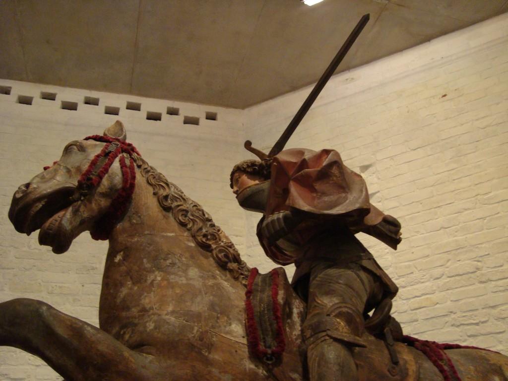 Sint Joris te paard, houten beeld door Henning van der Heyde (1504-1505), St. Annen Museum (c E. Ruis)