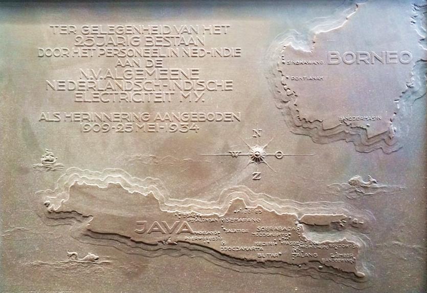 Bronzen plaquette van ANIEM, 1934