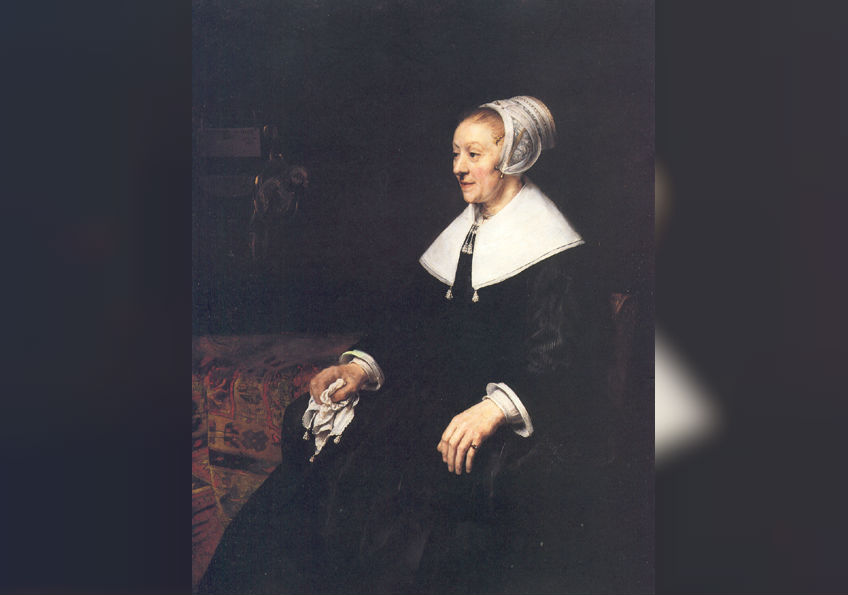 Catrina Hoogsaet geschilderd in 1657 door Rembrandt