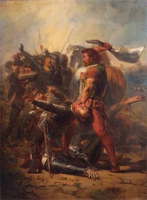 De dapperheid van Grote Pier, anno 1516, 19e-eeuws schilderij dat de strijd van Grote Pier verheerlijkt (Johannes Hinderikus Egenberger)