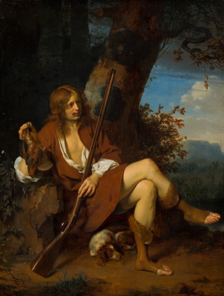 Arie de Vois (Utrecht c.1632 – 1680 Leiden) - Zelfportret als jager, c.1660-1665 - Mauritshuis, Den Haag