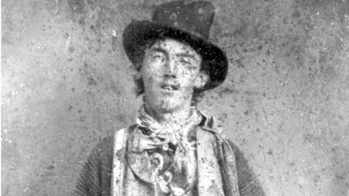 De portretfoto vn Billy the Kid
