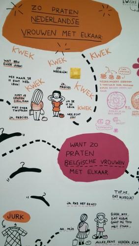 Belgisch-Nederlandse tegenstellingen als welkom bij de Design Derby (Foto: Edith Andriesse)