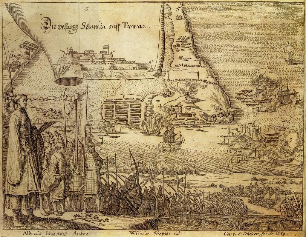 Illustratie van Fort Zeelandia