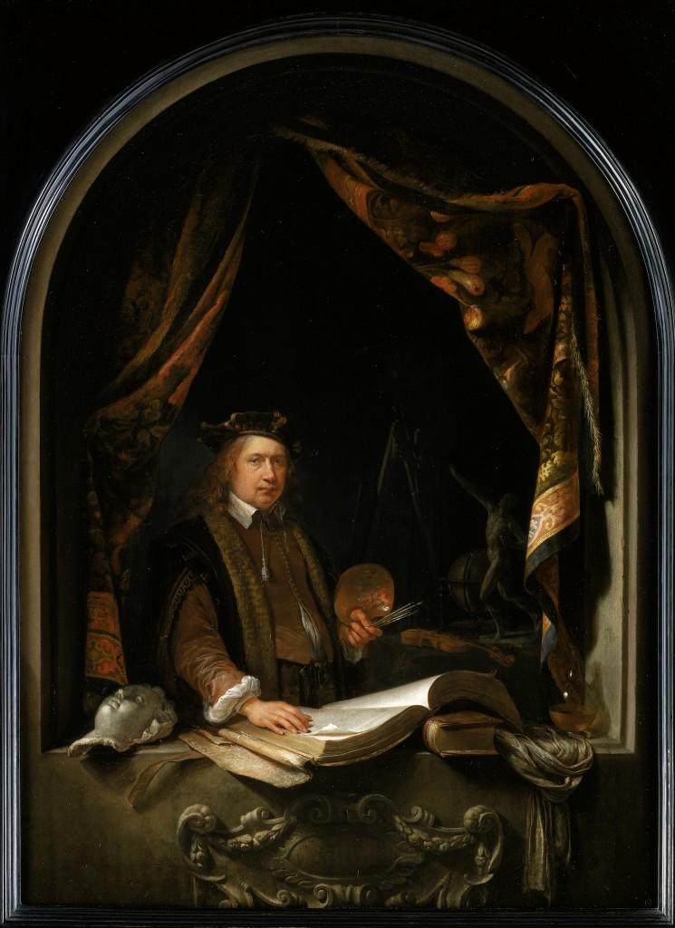 Gerrit Dou (Leiden 1613-1675 Leiden) - Zelfportret, c.1665 -  Collectie Eijk en Rose-Marie de Mol van Otterloo