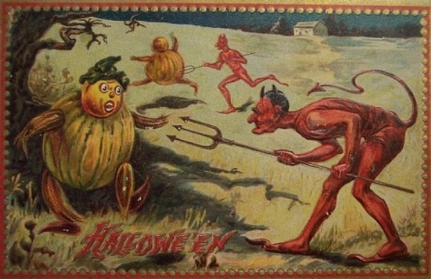 Duivel en pompoen