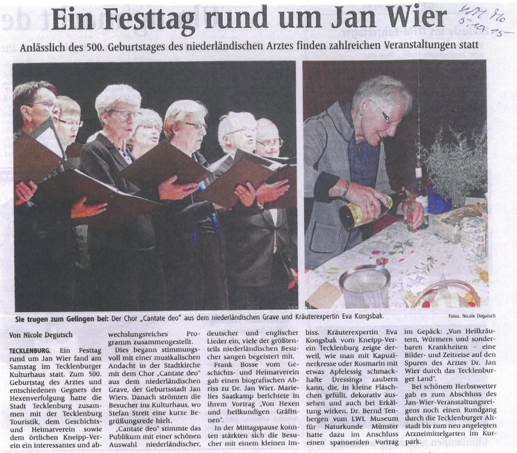 Feestelijke herdenking in Duitsland