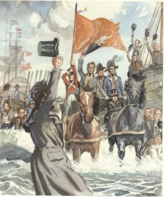 Willem I kwam aan in Scheveningen