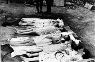 Levenloze lichamen van de kinderen Goebbels