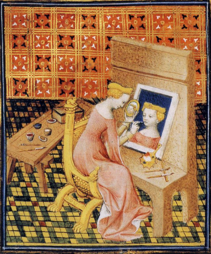 Marcia schildert zichzelf via een spiegel. Bron: Wikimedia
