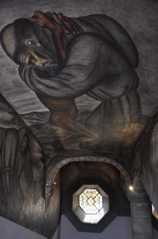 Muurschildering in het College van San Ildefonso in Mexico Stad (CC BY-SA 3.0 - Lsalgador82 - wiki)