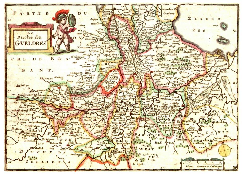Oude kaart van Gelre