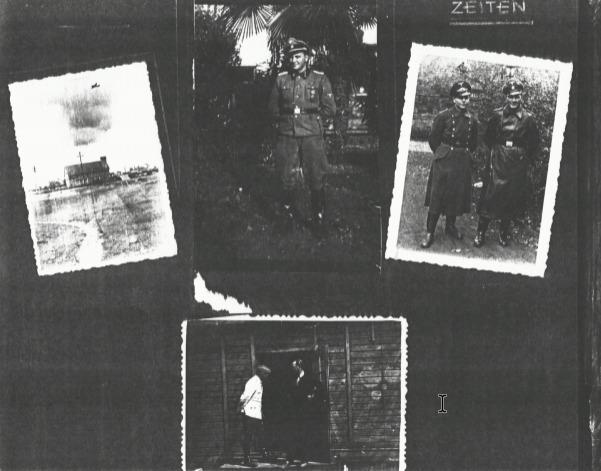 Pagina uit het fotoalbum van de kampcommandant