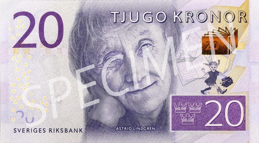 Pipi Langkous op nieuw Zweeds bankbiljet